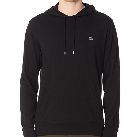 3f1fc717e1 Lacoste Men's Black Jersey T-Shirt Hoodie